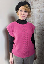 Load image into Gallery viewer, Vintage Pink & Silver Thread Tabard