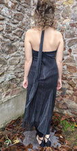 Load image into Gallery viewer, Black & Silver Sparkly Halter Neck Dress