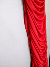 Load image into Gallery viewer, **SOLD** Vintage Red Ruched Slinky Dress