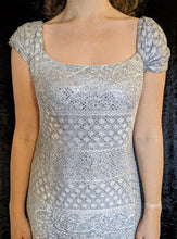 Load image into Gallery viewer, Vintage Silver Diamante Detail Long Dress