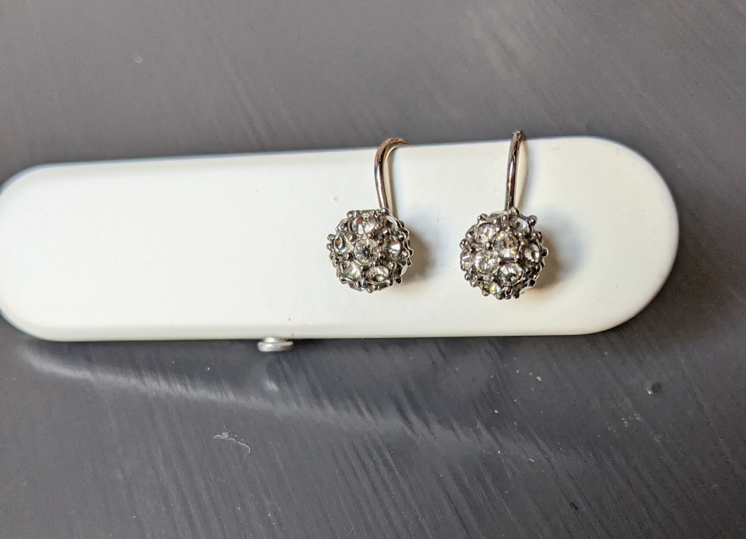 ** SOLD ** True Vintage Silver Marcasite Drop Earrings