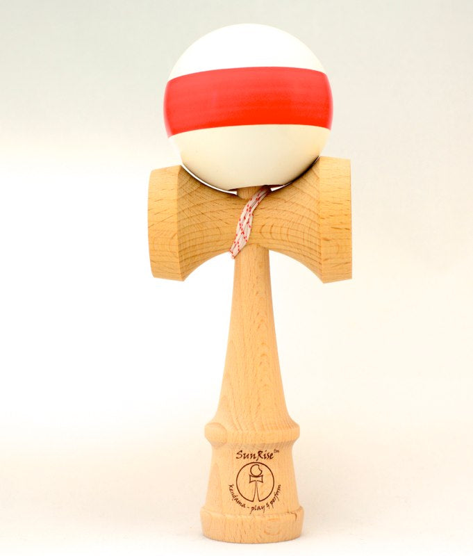 Kendama SunRise Competition Blanc avec Stripe Rouge