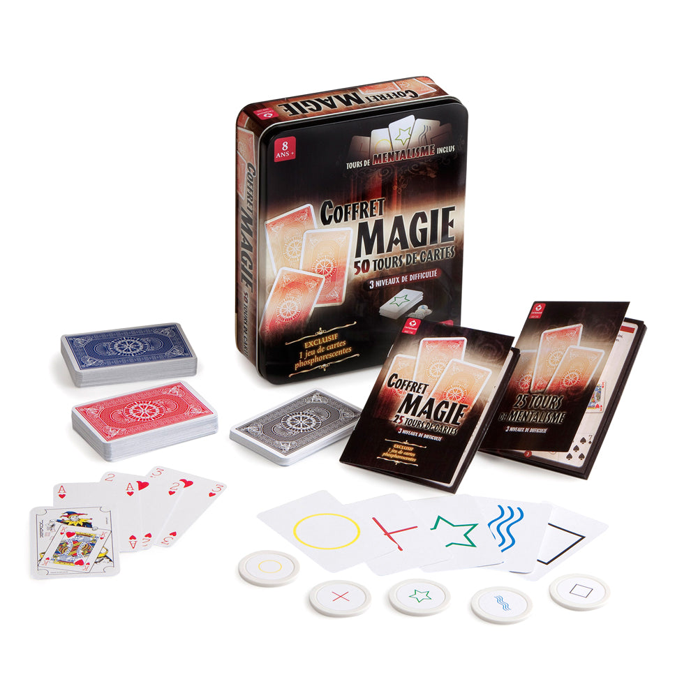 Coffret magie de Cartamundi, 50 tours de cartes