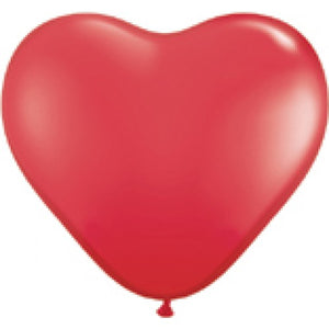 QUALATEX RED HEARTS 6'' COEURS ROUGE 15cm Sachet de 100