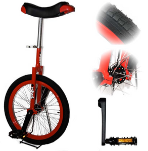 Monocycle 20 puces 50cm Indy Rouge