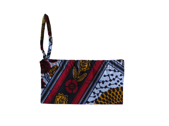 African Wax fabric face mask pouch