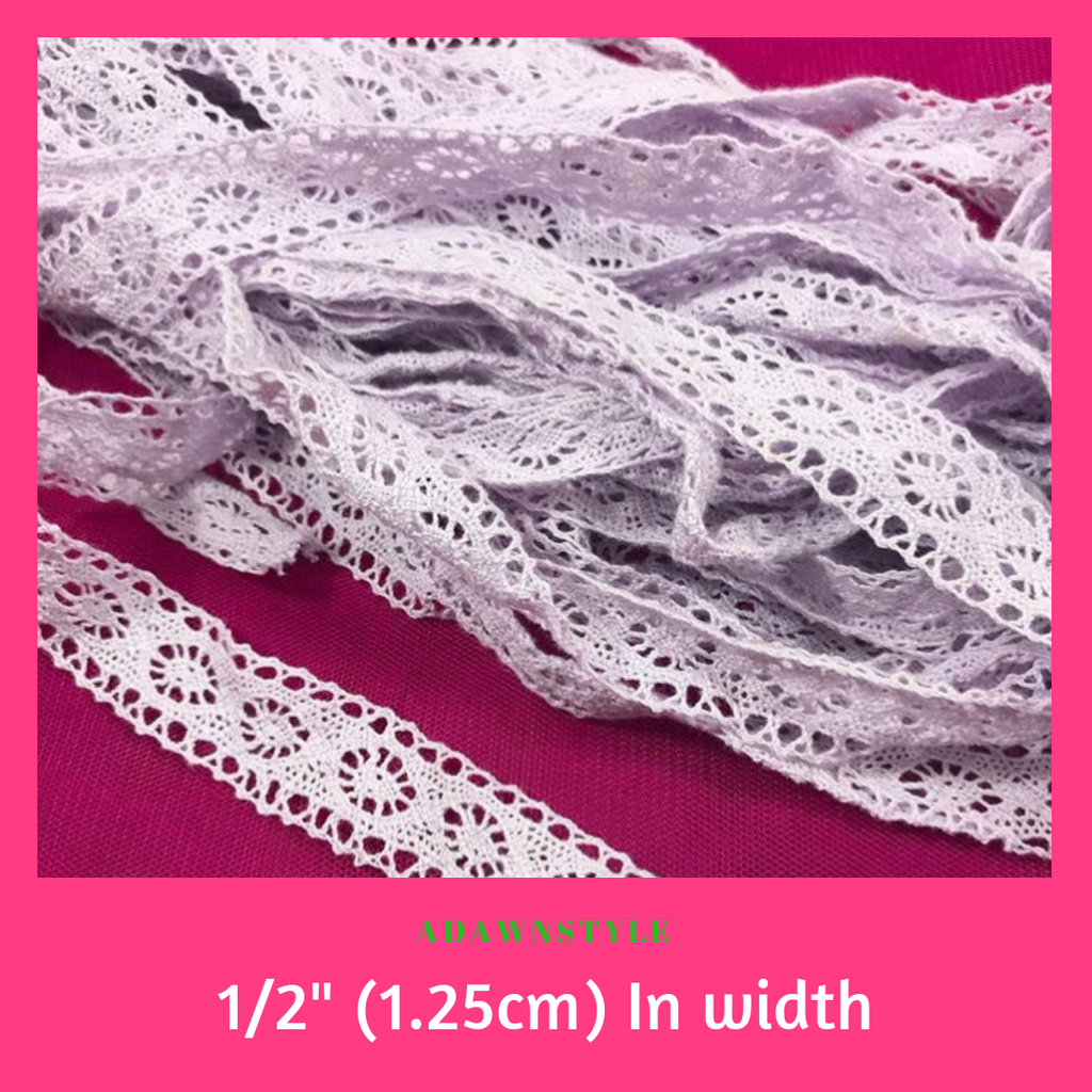"1/2 "" (1.25cm) Lavender Lace - Machine Embroidery Adawnstyle"