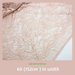 Soft Pink Stretch Cotton Lace Per Half Metre - Machine Embroidery Adawnstyle
