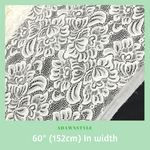 Off White Stretch Cotton Lace Per Half Metre - Machine Embroidery Adawnstyle