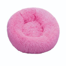 Load image into Gallery viewer, Anti-Anxiety Calming Cat Donut Bed Floppy Fishie Toy