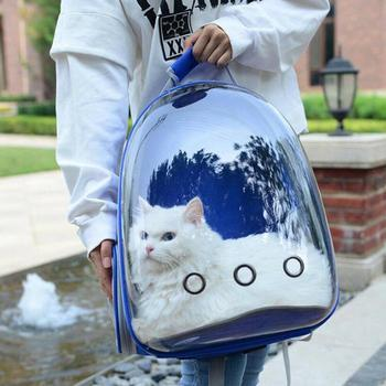 Breathable Astronaut Cat Carrying Backpack Floppy Fishie Toy
