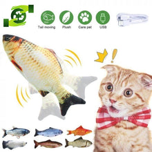 Load image into Gallery viewer, Electric USB Charging Smart Cat Fish Toy Floppy Fishie Toy