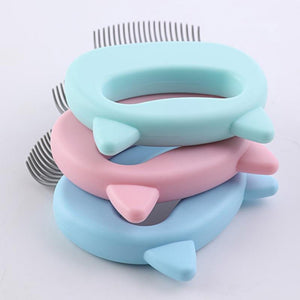Pet Massager Deshedding Shell Comb Floppy Fishie Toy