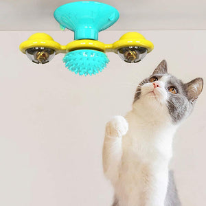 Wind Mill Cat Interactive Toy Floppy Fishie Toy