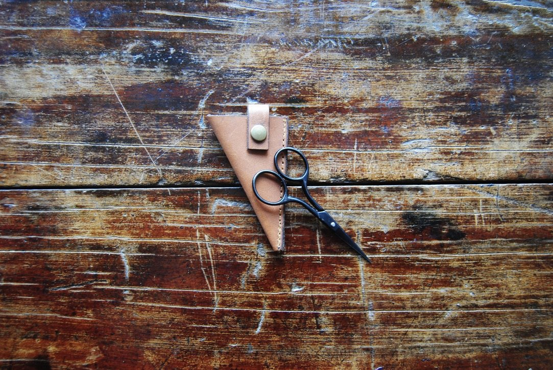 Luna Fibers Accessories - Leather Scissor Sheath
