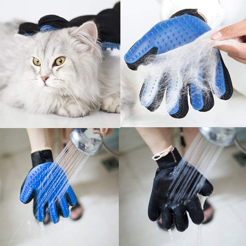 Dog bath hair removal gloves cleaning brush gloves  back massage - DogsMall-International