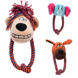 DogsMall-International | Squeaky Animals Dog Chew Toys, Bite Resistant