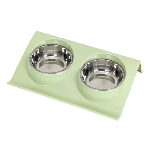 DogsMall-International | Stainless Steel Double Dog works as a set with food or water for one