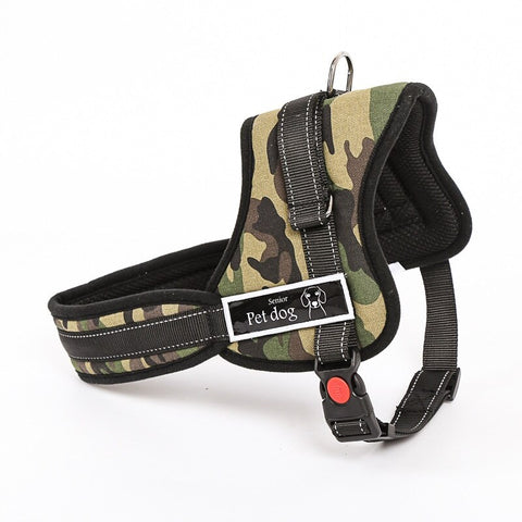 Luxury Collar Reflective Police K9 Soft Harness | DogsMall-International