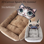 DogsMall-International | Smart Funny New 3D Design Dog bed with Interesting Image for fun. High-quality dog bed