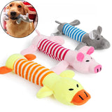 DogsMall-International | Squeaky Dog Toy Elephant Pig Chew Toys for Small Dogs Cleaning Teeth