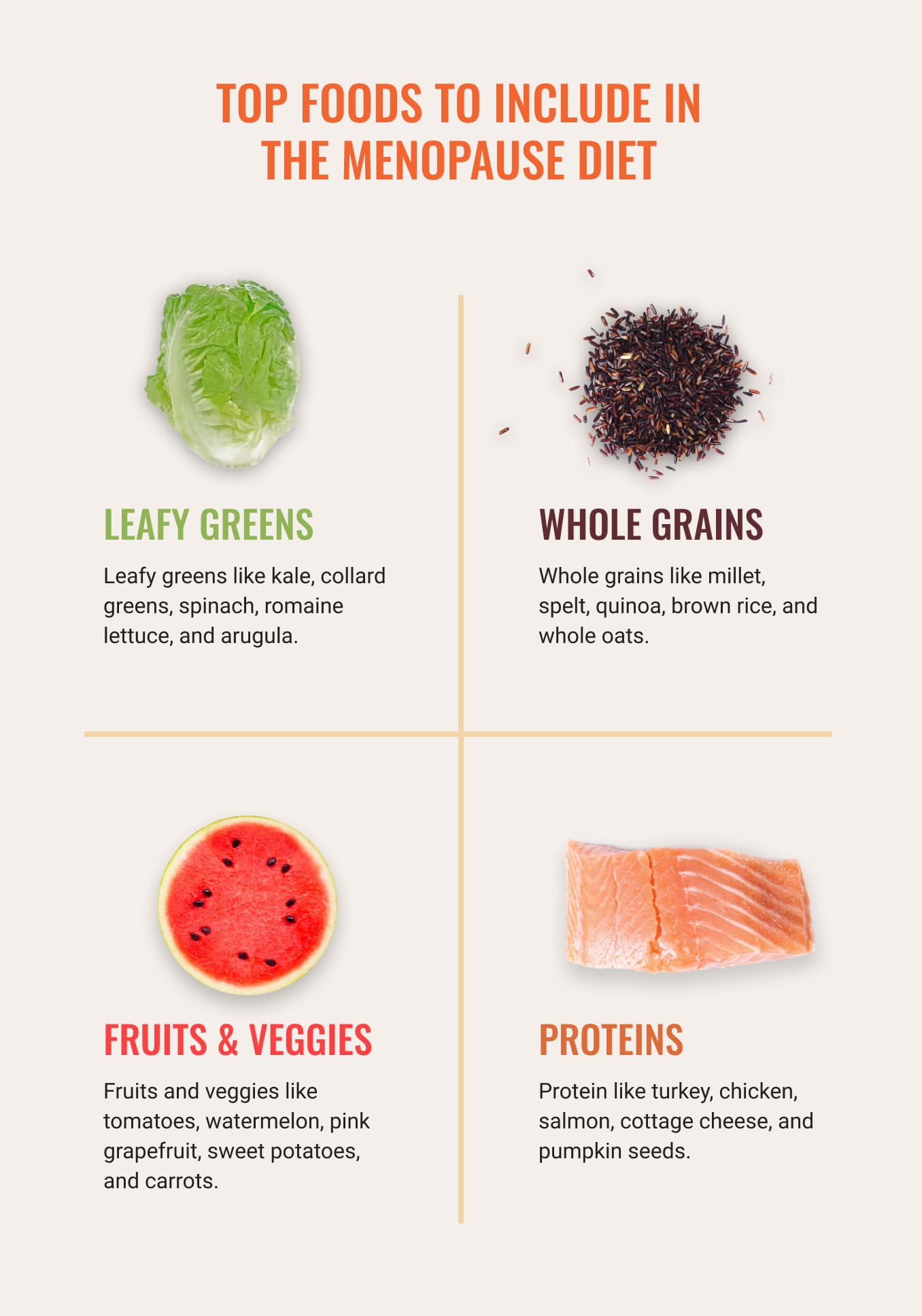 Top Foods to Include in The Menopause Diet