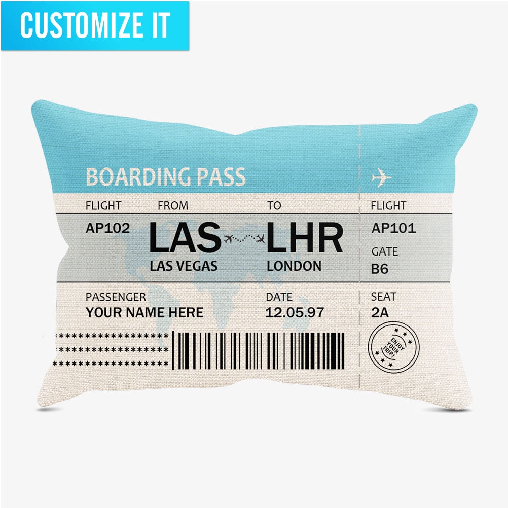 Custom Boarding Pass - Throw Pillow