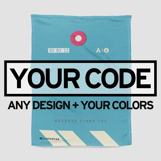 Custom Airport Code - Fleece Blanket