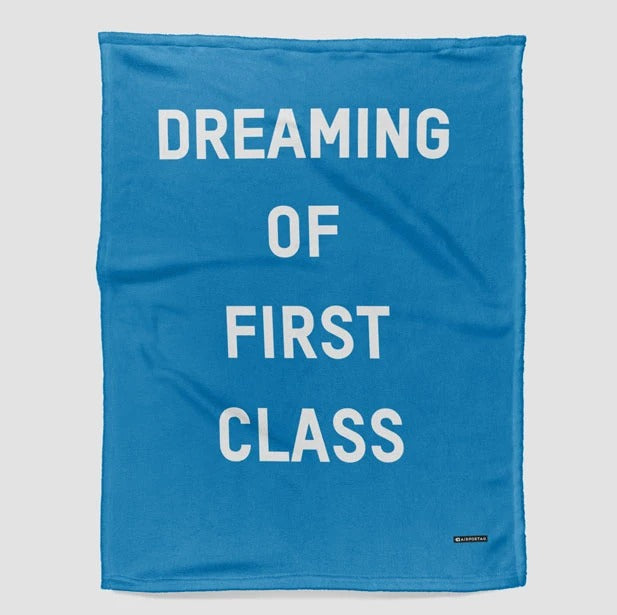 Dreaming Of First Class - Fleece Blanket