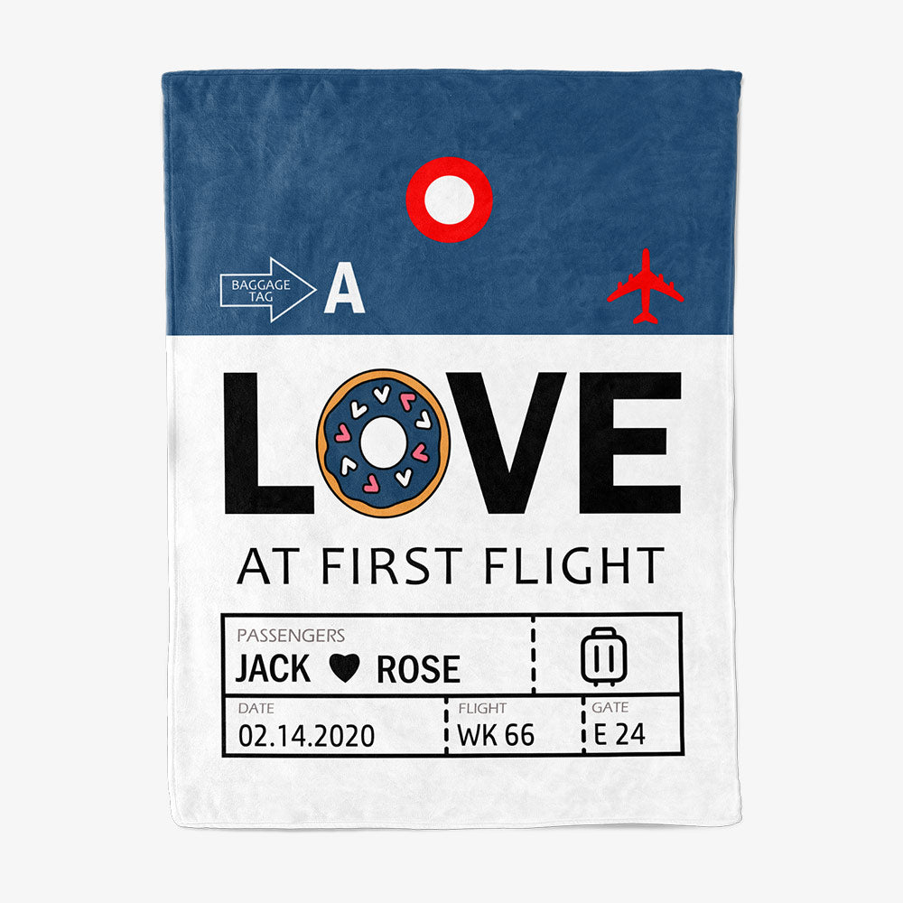 Custom Airport Code Love At First Flight - Fleece Blanket