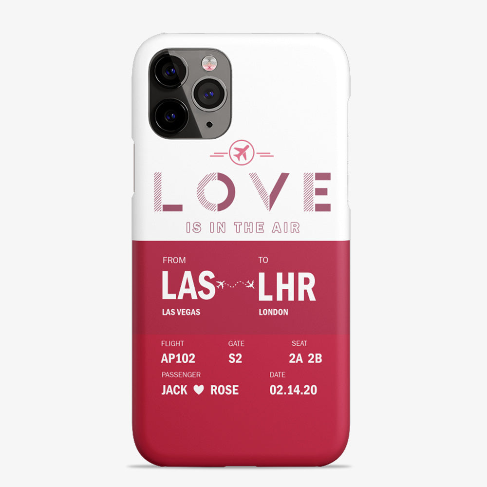 Custom Airport Code Love Is In The Air - Phone Case