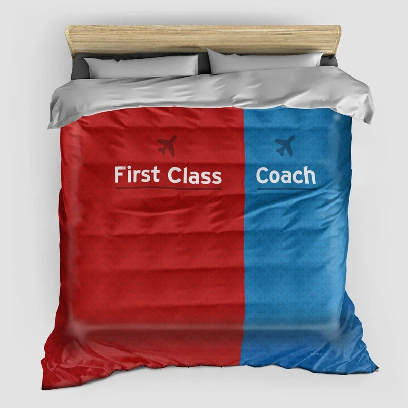 First Class VS Coach- Duvet Cover
