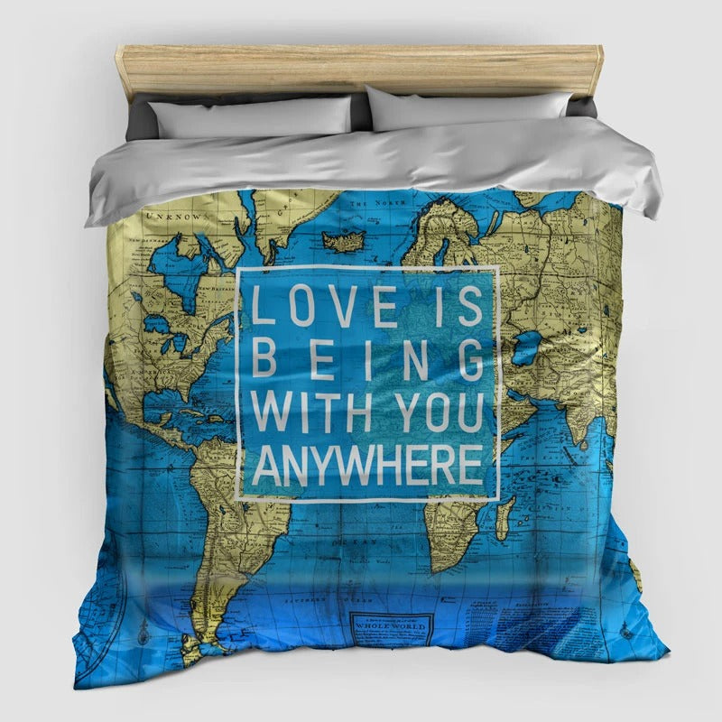 Love Is Being With You - Duvet Cover