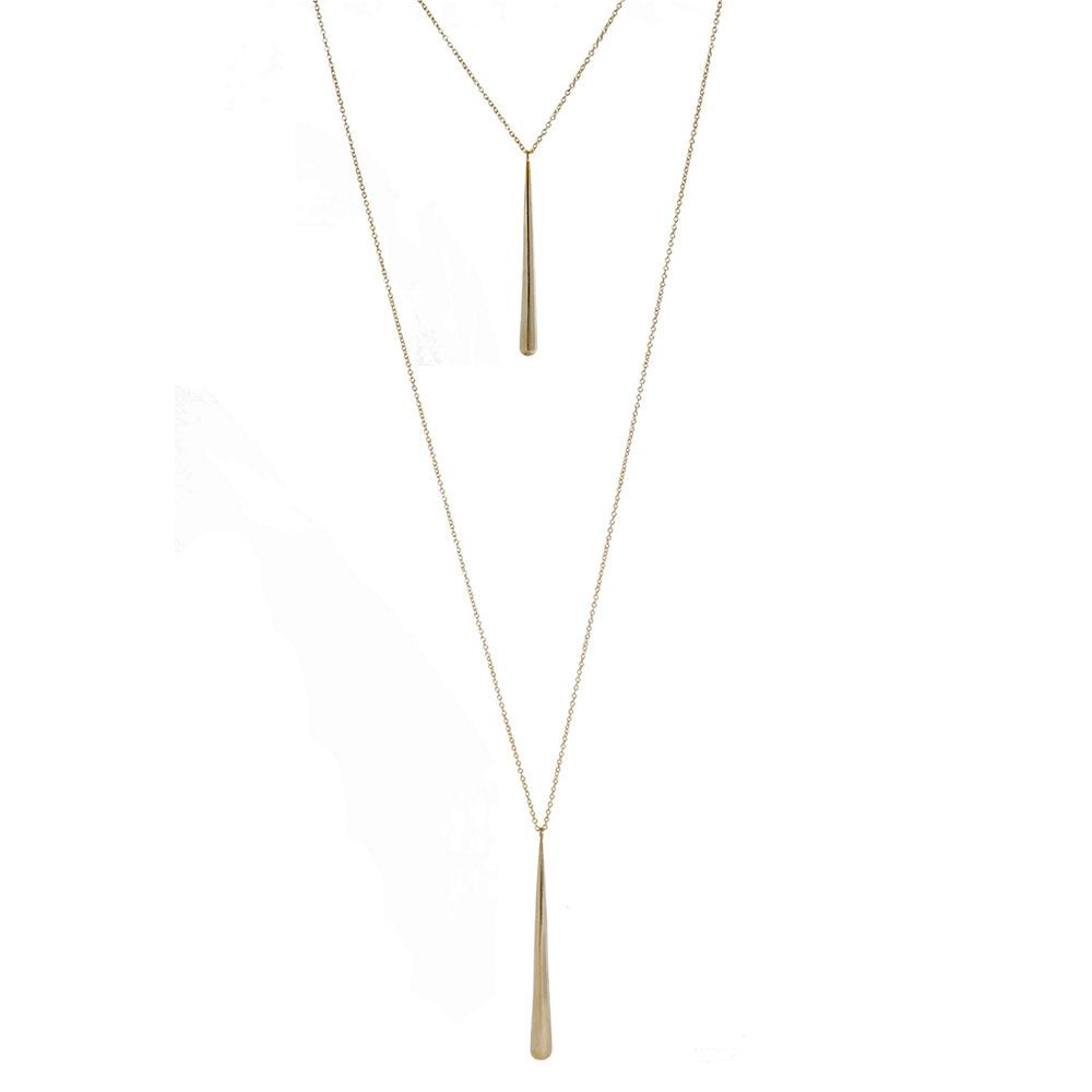 Layered Pia Lariat Necklace