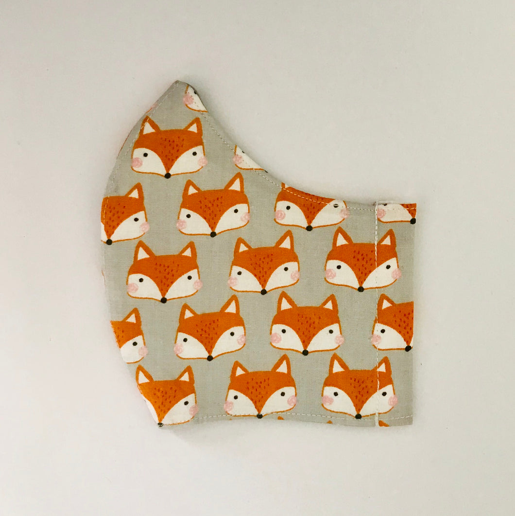 Fox fabric face mask