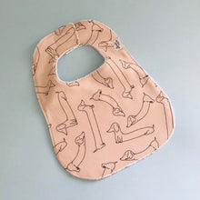 Load image into Gallery viewer, Pink Dachshund  Bib