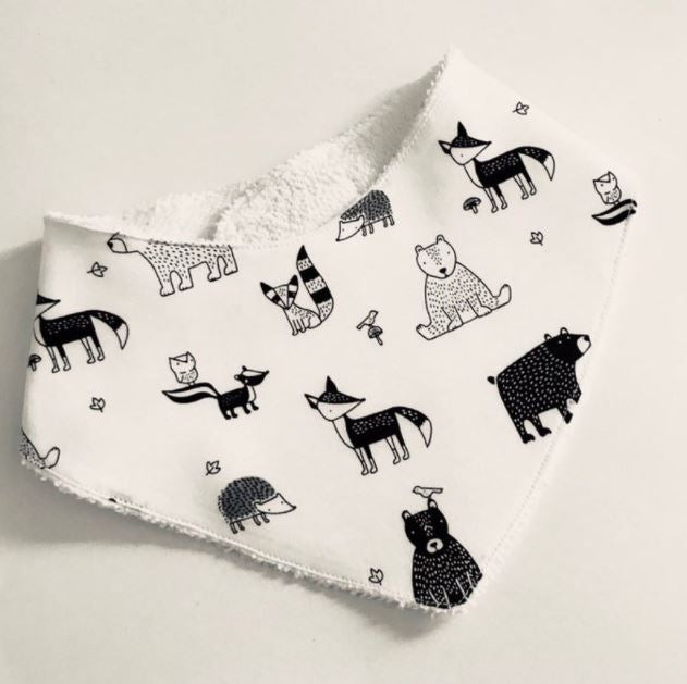 Woodland Animals Dribble Bib