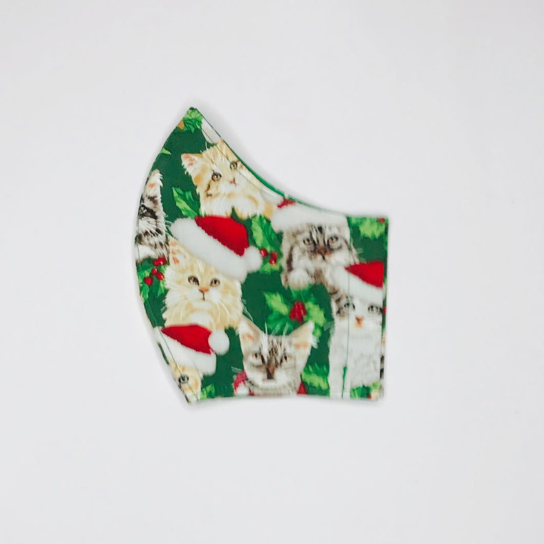 Christmas Cats fabric face mask