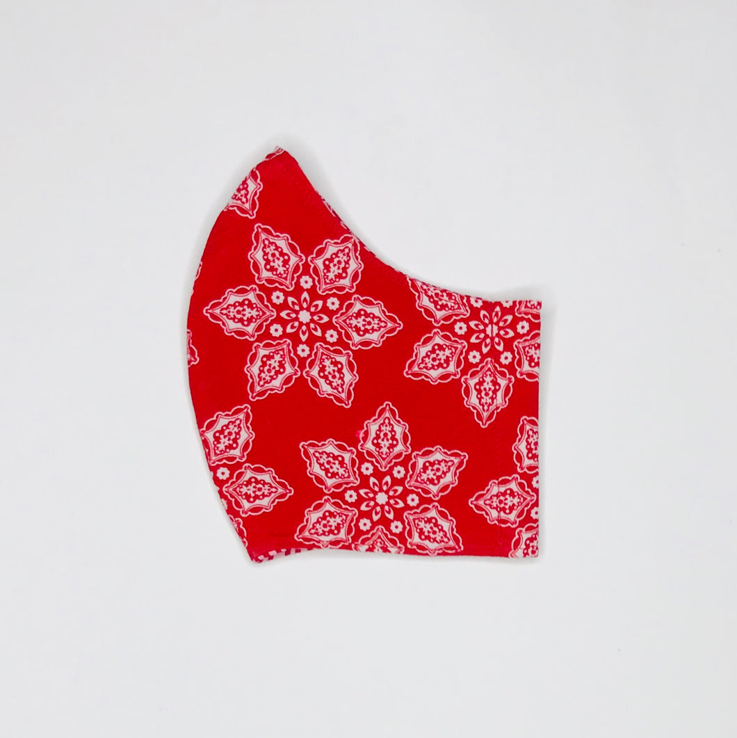 Christmas Snowflake fabric face mask