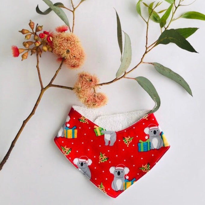 Christmas Koala Dribble Bib