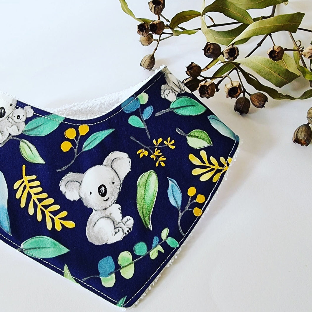 Navy Koala Dribble Bib