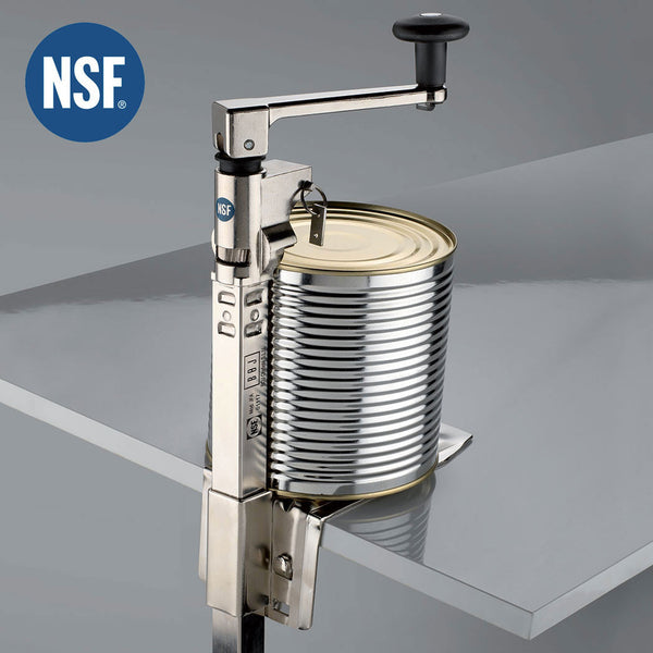 360-BOJ NSF Commercial Can Opener (Nickel Plated, Table Mounted) with 20