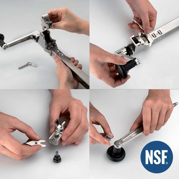 360-BOJ NSF Commercial Can Opener (Stainless Steel, Table Mounted) with 20