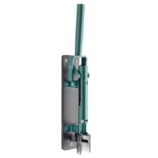 BOJ Professional LUX Green Emerald, Dark Gray Wooden Backing Wall-Mounted Corkscrew, Model 110 - BOJpro.com
