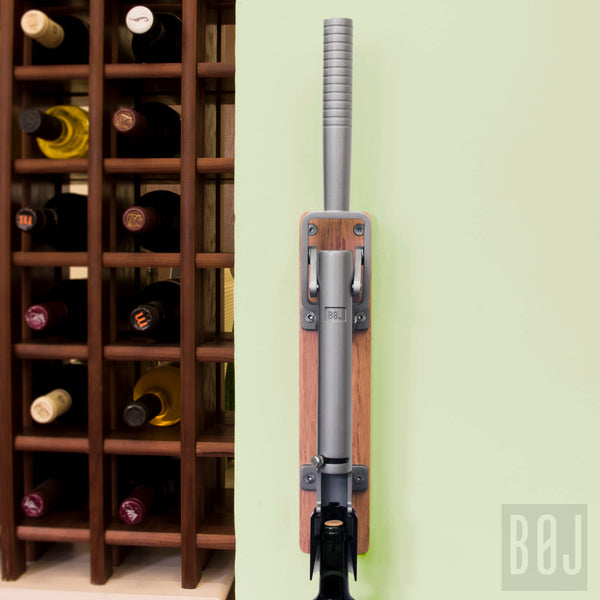 BOJ Professional Natural Color, Oak-Backed Wall-Mounted Corkscrew Wine Opener, Model 110 - BOJpro.com