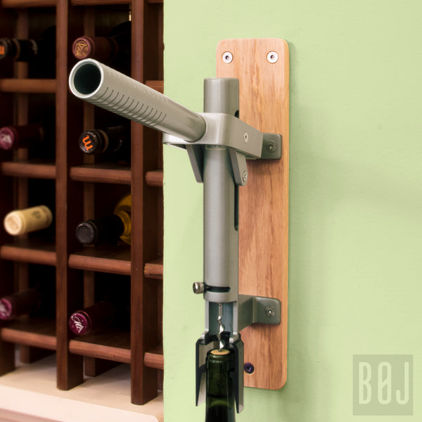 BOJ Professional Natural Color, Oak-Backed Wall-Mounted Corkscrew, Model 110 - BOJpro.com