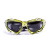 Ocean sunglasses model australia 11700.5 with green frame and smoke lens polarized eyewear for water sports