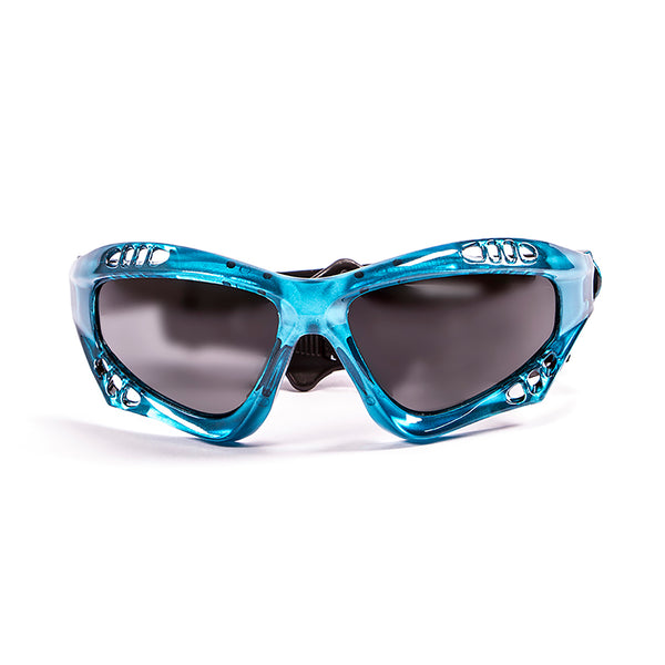 Ocean sunglasses model australia 11700.6 with blue frame and smoke lens polarized eyewear for water sports