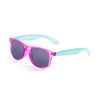 OCEAN Sunglasses BOJpro model BEACH 18202.29 Frame Transparent Violet Frosted & Blue & Lens Smoke