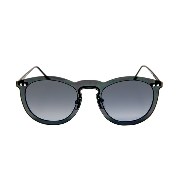 OCEAN Sunglasses BOJpro model BERLIN 20.17 Frame Transparent Black & Lens Transparent Gradient Smoke